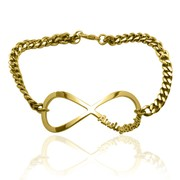 Online Shop for Gold Plated Infinity Name Bracelet