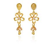 Gold Flower Dangler Earrings | Gold Earrings manufacturer