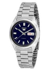 Seiko Men's Automatic Stainless Steel Bracelet Watch with Day/ date Bl