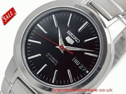 Seiko SNKA07K Men's Automatic Black Dial Stainless Steel watch