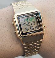 Casio World Time Alarms Digital Watch A500WGA-9DF