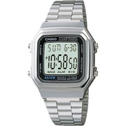 Casio A178WA-1ADF Men's Digital Stainless Steel Bracelet Watch