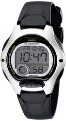 Casio Ladies Black Strap Digital Watch LW-200-1AVDF